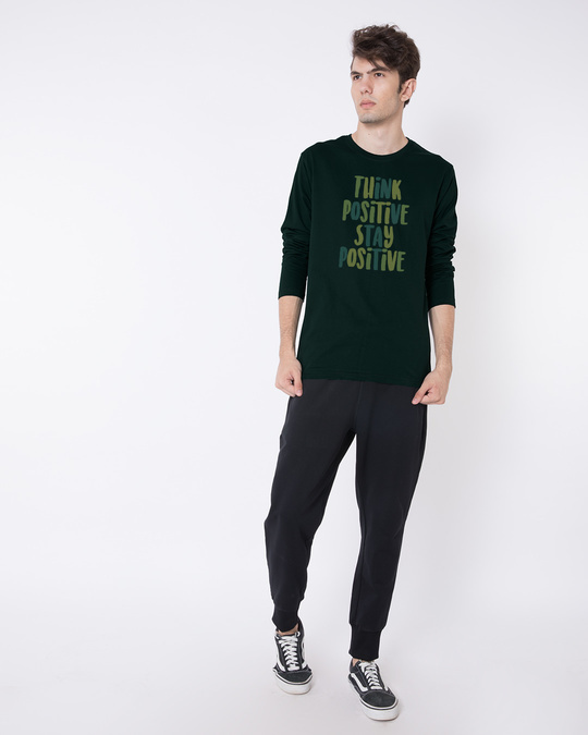 Shop Stay Positive Full Sleeve T-Shirt