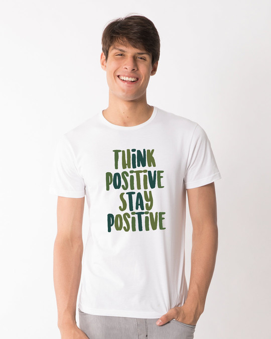 Shop Stay Positive Half Sleeve T-Shirt-Back