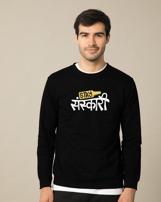 Shop Stay Sanskari Sweatshirt-Front
