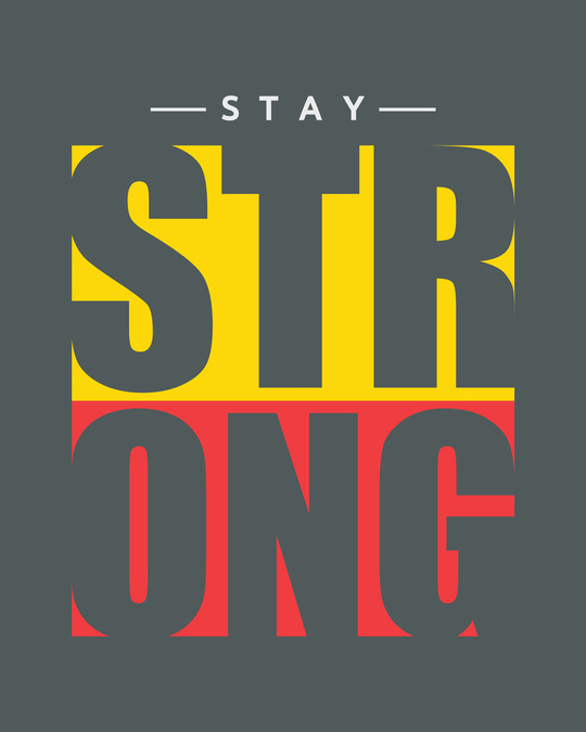 Shop Stay Strong Block 3/4th Sleeve T-Shirt-Full