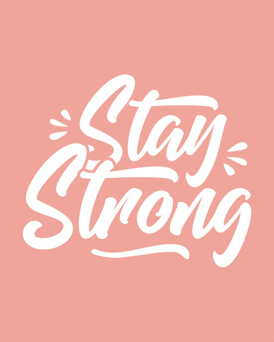 Shop Stay Strong Round Neck 3/4th Sleeve T-Shirt