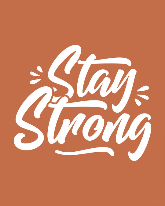Shop Stay Strong Scoop Neck Full Sleeve T-Shirt-Full
