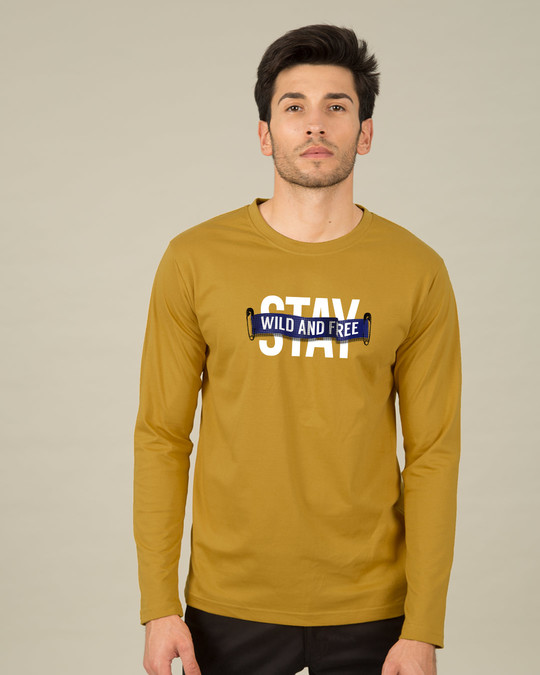 Shop Stay Wild And Free Full Sleeve T-Shirt-Front