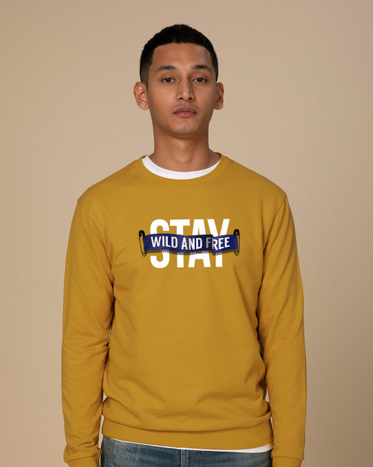 Shop Stay Wild And Free Sweatshirt-Front