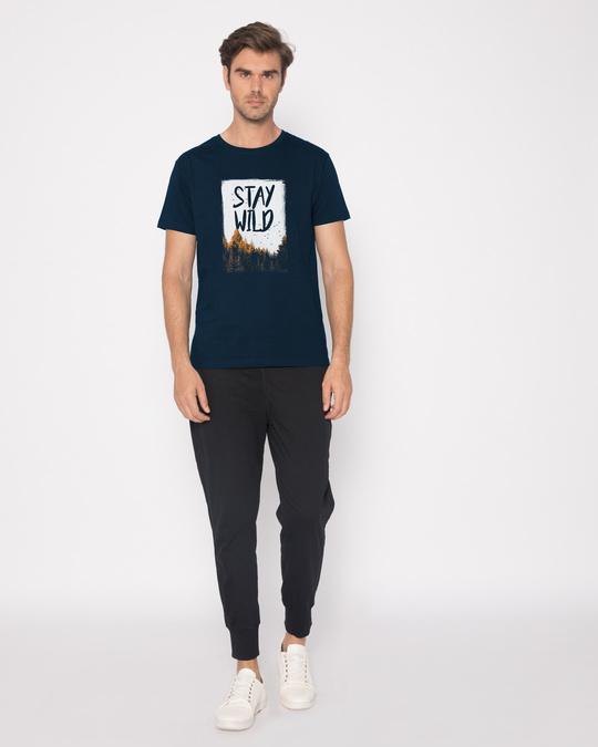 Shop Stay Wild Halftone Half Sleeve T-Shirt