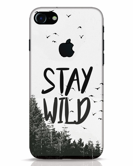 Shop Stay Wild iPhone 7 Logo Cut Mobile Cover-Front