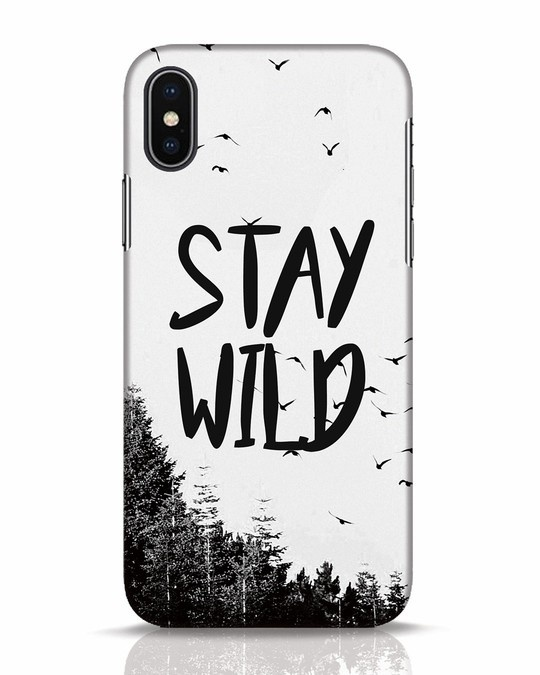 Shop Stay Wild iPhone X Mobile Cover-Front
