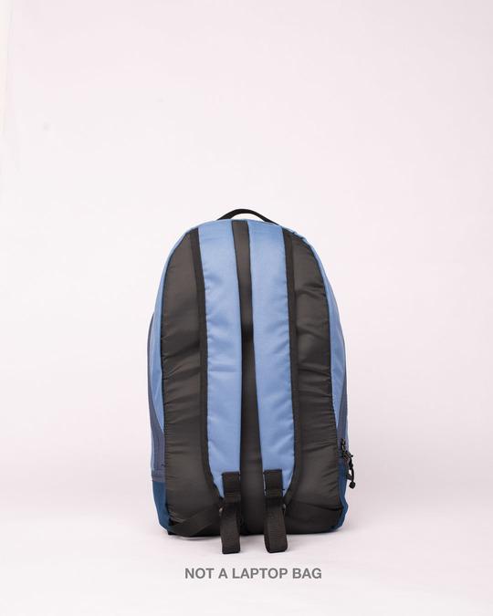 Shop Steel Blue Plain Small Backpack-Full