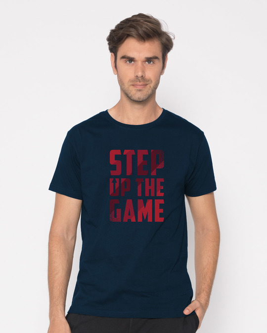 Shop Step Up The Game Half Sleeve T-Shirt-Back