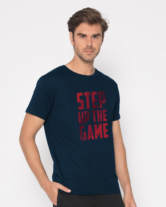Shop Step Up The Game Half Sleeve T-Shirt-Full