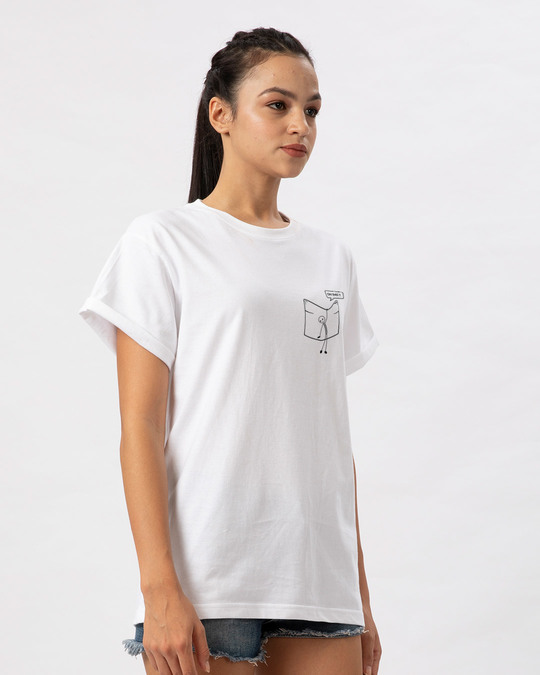 Shop Stick Figure Boyfriend T-Shirt-Full