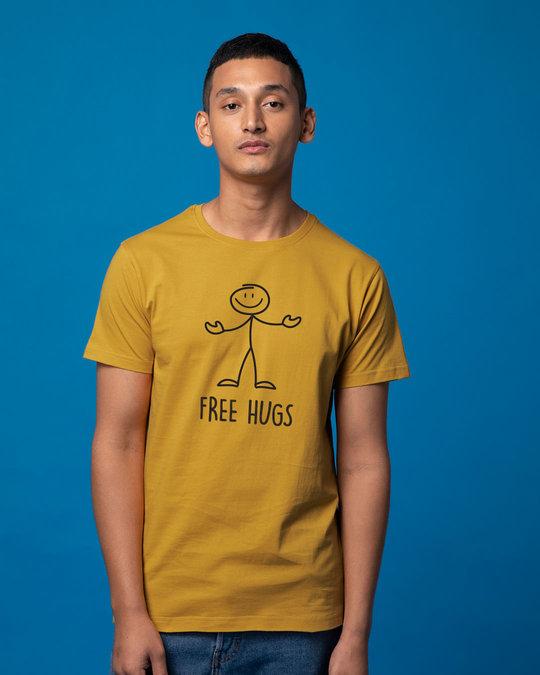 Shop Stick Hugs Half Sleeve T-Shirt-Back