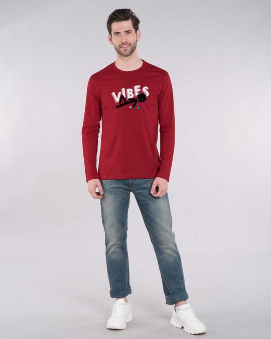 Shop Stick Man Vibes Full Sleeve T-Shirt-Full