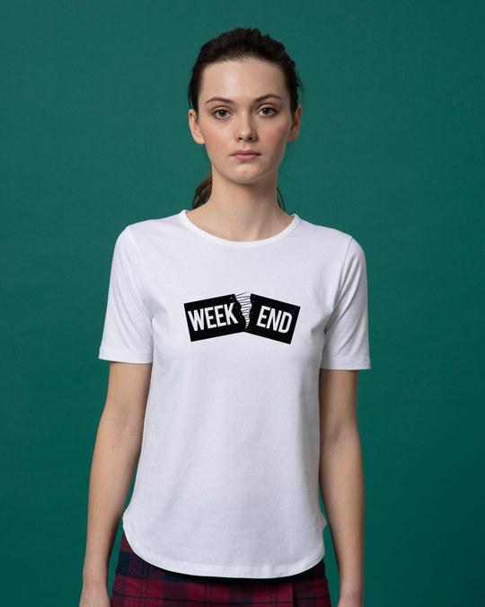 Shop Stitch The Weekend Basic Round Hem T-Shirt-Front