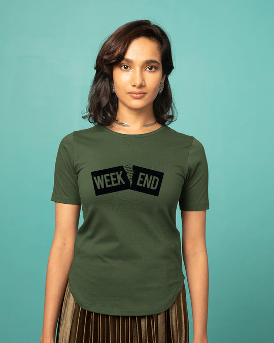 Shop Stitch The Weekend Basic Round Hem T-Shirt-Front