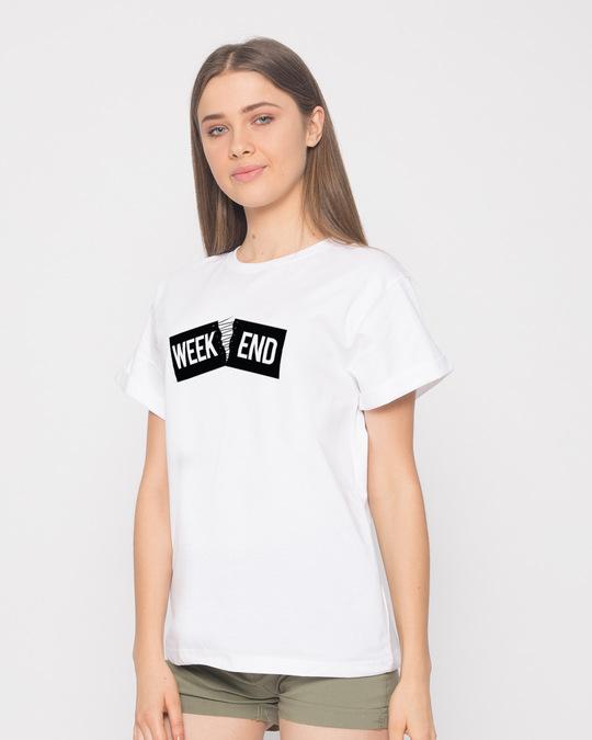 Shop Stitch The Weekend Boyfriend T-Shirt-Back