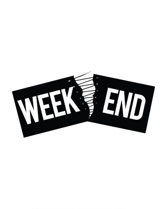 Shop Stitch The Weekend Half Sleeve T-Shirt