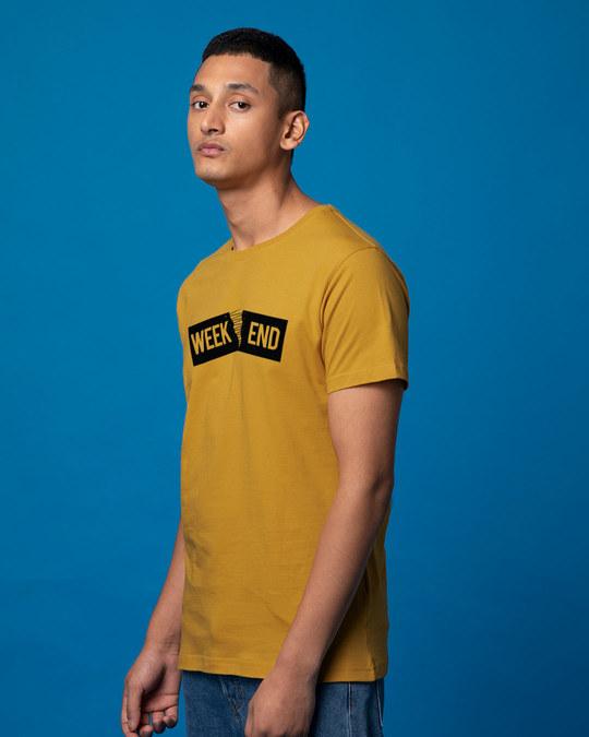 Shop Stitch The Weekend Half Sleeve T-Shirt-Full