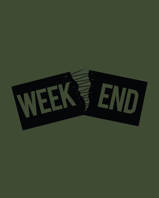 Shop Stitch The Weekend Round Neck 3/4th Sleeve T-Shirt