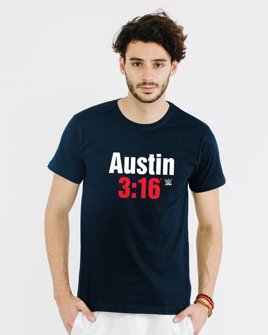 Shop Stone Cold Half Sleeve T-Shirt (WWEL)-Back