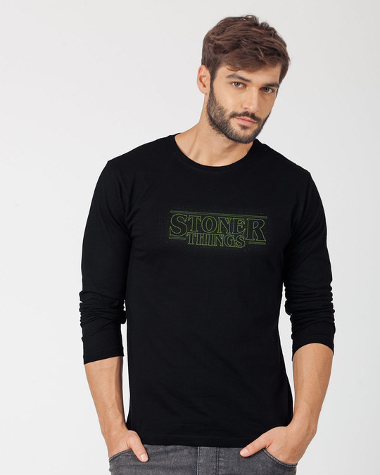 Shop Stoner Green Full Sleeve T-Shirt-Front