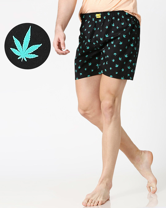 Shop Stoners Delight All Over Printed Boxer-Front