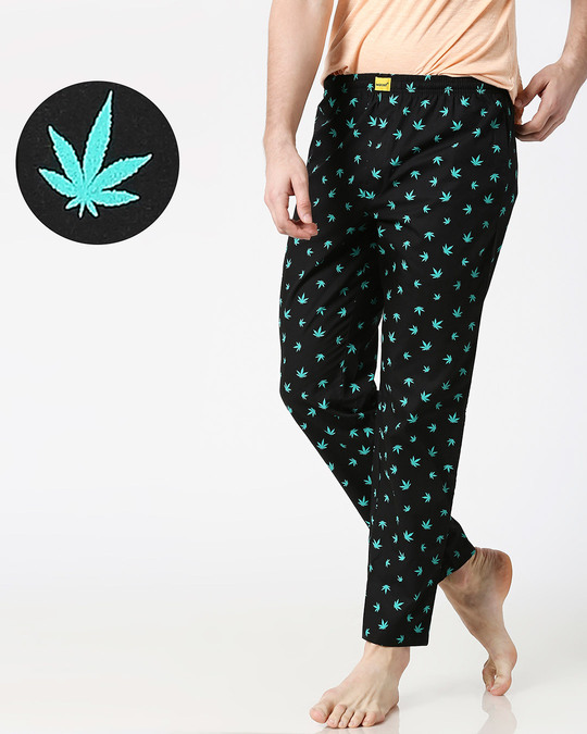 Shop Stoners Delight All Over Printed Pyjama-Front