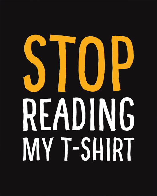 Shop Stop Reading Basic Round Hem T-Shirt