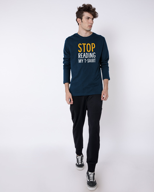 Shop Stop Reading Full Sleeve T-Shirt-Full