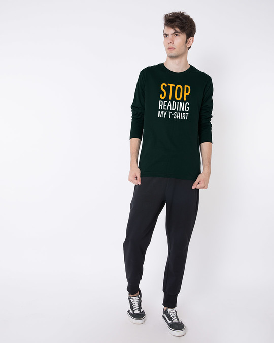 Shop Stop Reading Full Sleeve T-Shirt