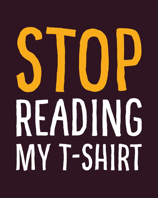 Shop Stop Reading Full Sleeve T-Shirt