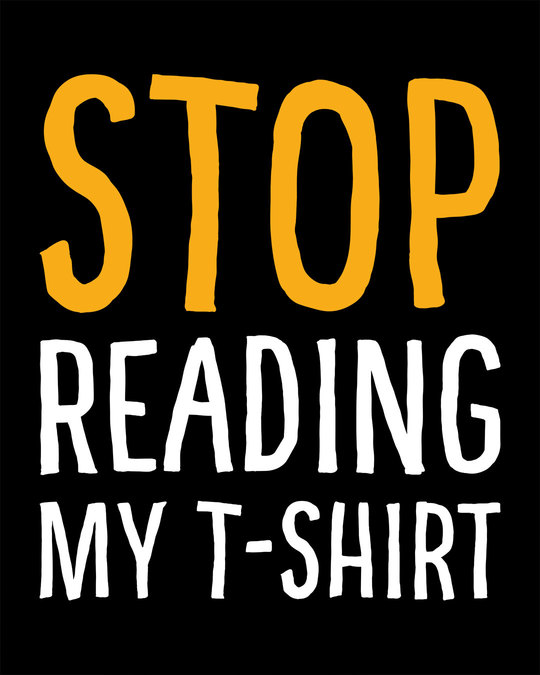 Shop Stop Reading Half Sleeve T-Shirt