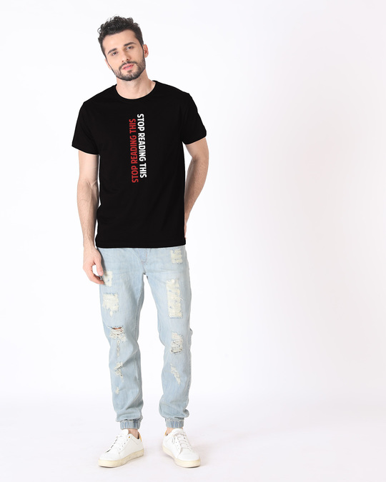 Shop Stop Reading This Half Sleeve T-Shirt