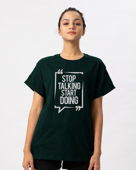 Shop Stop Talking Boyfriend T-Shirt-Front