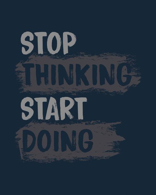 Shop Stop Thinking Basic Round Hem T-Shirt
