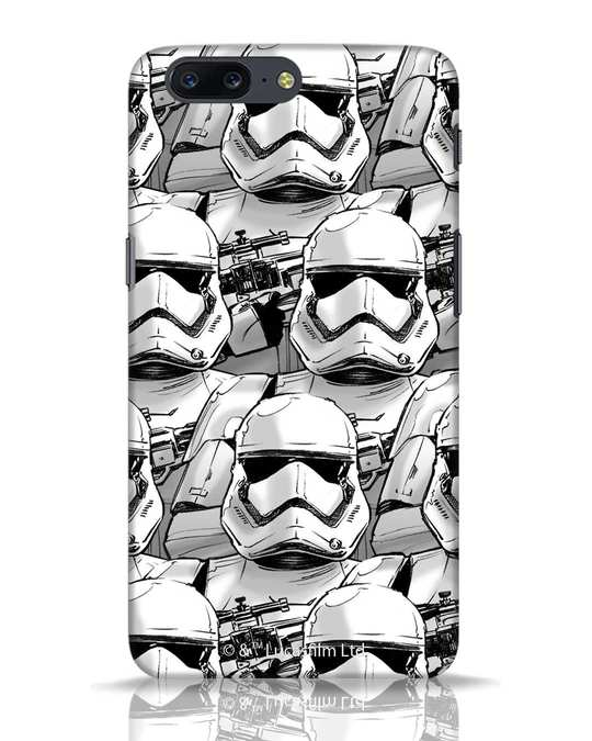 Shop Storm Troopers OnePlus 5 Mobile Cover (SWL)-Front