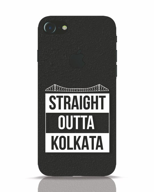 Shop Straight Outta Bengal iPhone 7 Logo Cut Mobile Cover-Front