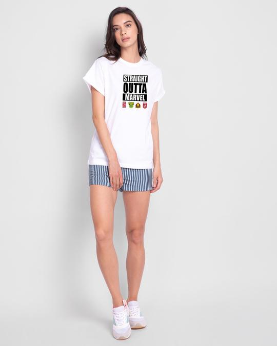 Shop Straight Outta Marvel Boyfriend T-Shirts (AVL)-Full