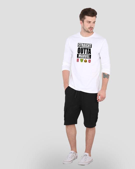Shop Straight Outta Marvel Men's Printed Full Sleeve T-Shirt-Design