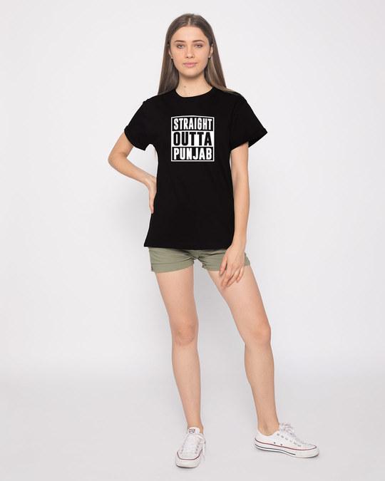 Shop Straight Outta Punjab Boyfriend T-Shirt