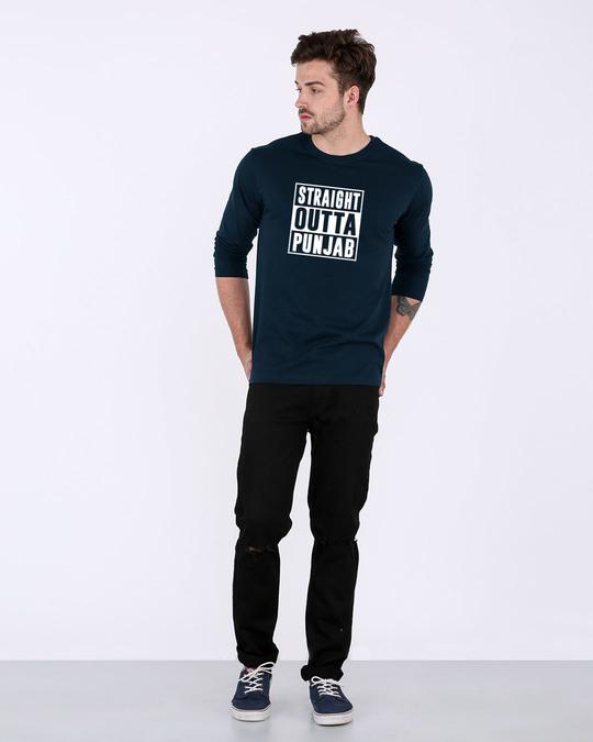 Shop Straight Outta Punjab Full Sleeve T-Shirt-Full