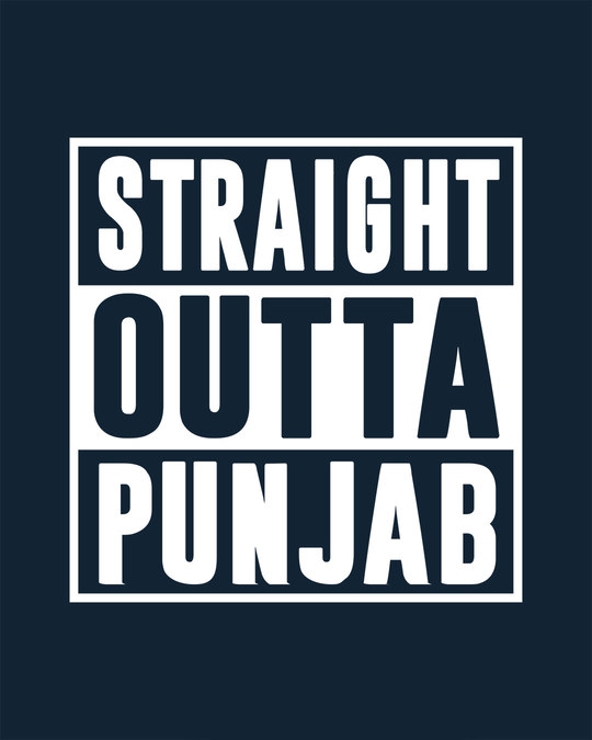 Shop Straight Outta Punjab Full Sleeve T-Shirt