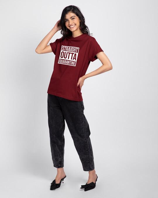 Shop Straight Outta Quarantine Boyfriend T-Shirt-Full