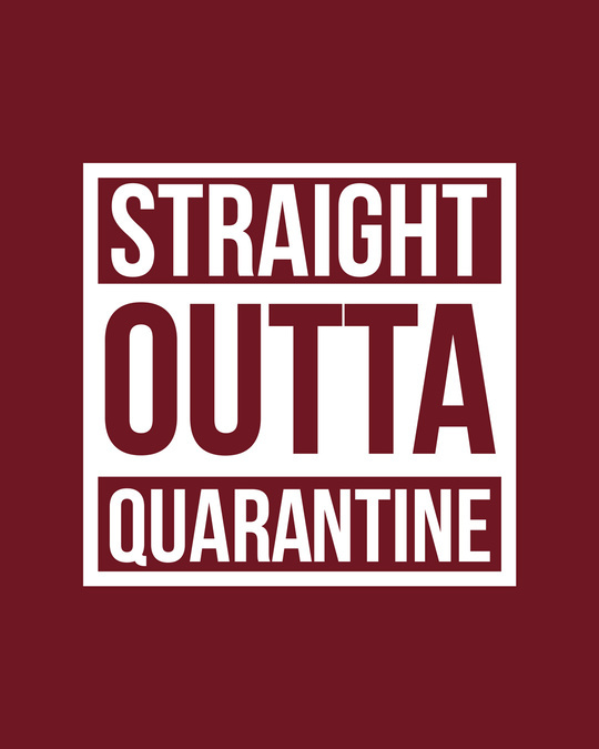 Shop Straight Outta Quarantine Full Sleeve T-Shirt