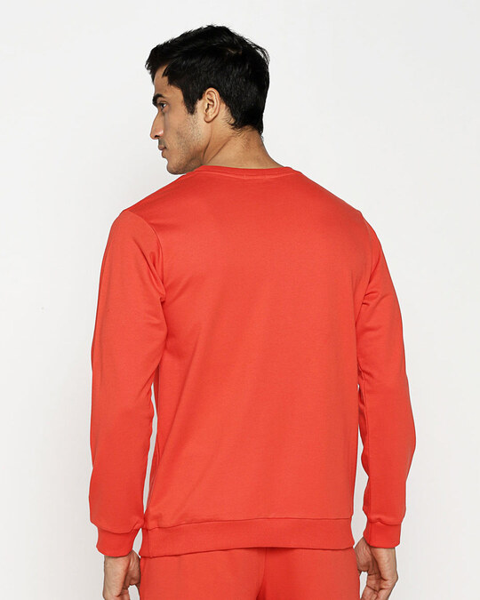 Shop Streetpop Fleece Sweater Smoke Red-Full