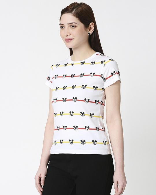 Shop Stripe Mickey Half Sleeves AOP T-Shirt-Design