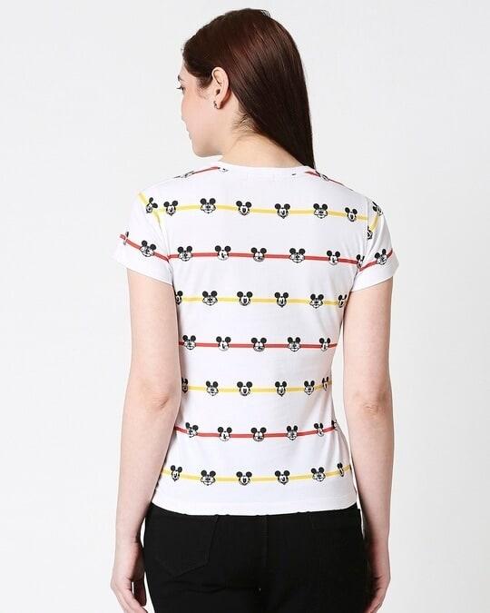 Shop Stripe Mickey Half Sleeves AOP T-Shirt-Full