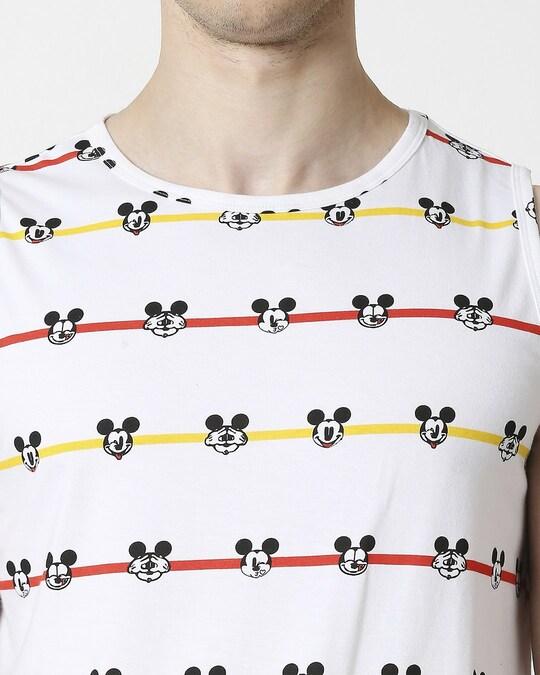 Shop Stripe Mickey AOP Vest T-Shirts