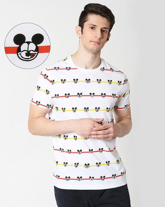 Shop Stripe Mickey (DL) AOP T-Shirt-Front