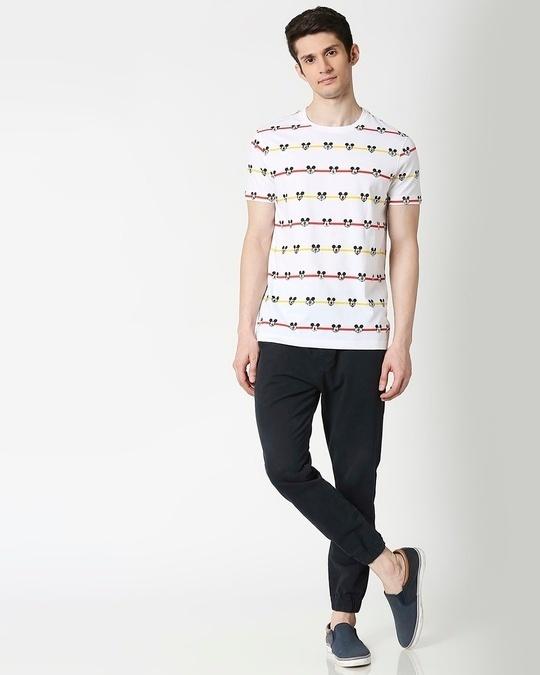 Shop Stripe Mickey (DL) AOP T-Shirt